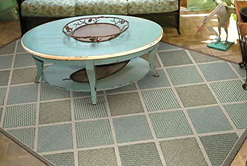 - Couristan 2470/2007 Monaco Meridian Area Rugs, 3-Feet 9-Inch by 5-Feet 5-Inch, Multi