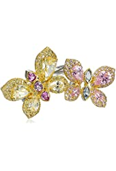 CZ by Kenneth Jay Lane Trend Cubic Zirconia Pastel Double-Butterfly Ring, Size 7
