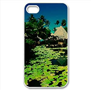 Exotic Resort Watercolor style Cover iPhone 4 and 4S Case (Summer Watercolor style Cover iPhone 4 and 4S Case)
