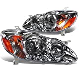 2007 toyota headlight covers - DNA Motoring HL-OH-TCO02-CH-AM Headlight Assembly, Driver and Passenger Side