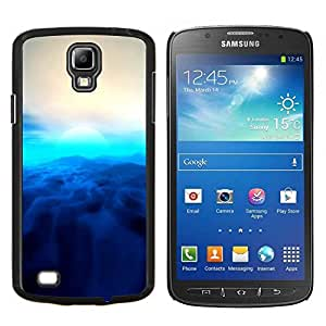 Gaga Case / Blue Sun For S4 Active I9295 (Do Not Fit S4) Duro Snap en el tel???¡¯????fono celular de la cubierta