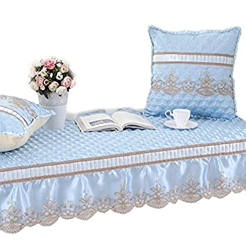 GX AI YY New Day®-cojín Minimalista Ventana colchones Cojines Dormitorio Tela Cojines del colchón Moderno Alfombra Antideslizante, (65+20) *210cm: ...