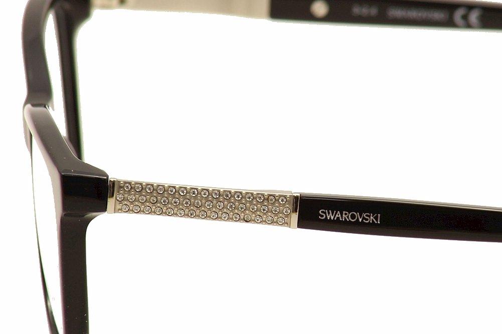 Swarovski anteojos sk5117 001 brillante negro negro brillante 54 ...