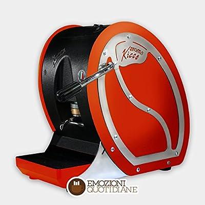 Machine à café à dosettes 44mm KICCO couleur rouge pour caffe 'toraldo