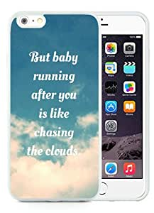Hot Sale 1D Clouds Lyrics One Direction Favim White iPhone 6 Plus/6S Plus 5.5 inches Screen TPU Phone Case Fashion and Cool Design