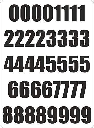 40x Autocollant Sticker Numero Nombre Chiffre Course Noir Porte Voiture Moto