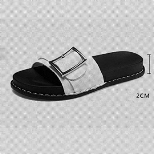 Ciabatte Donna Eu37 Outdoor 5 Coreana Spiaggia colore uk4 Versione Dimensioni Xy Black Pantofole Infradito Flip cn37 Da Black 5 Flat E Wild Fashion Summer Flop qwwHE8Y