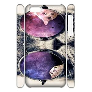 Galaxy Hipster Cat Brand New 3D Cover Case for Iphone 5C,diy case cover ygtg551899