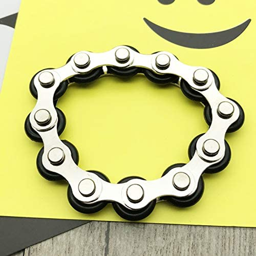 YsaAsa Roller Chain Fidget Toy Bicycle Chain Decompression Toy Roller Chain Fidget Stress Reliever Steel Bicycle Chain Fidget Toy pour ADD ADHD Anxiety Autism Adult Children,