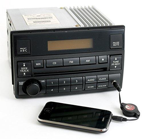 Aux Nissan Input (Nissan 05-06 Altima Radio AMFM CD Player w Aux mp3 Input Spd Vol Ctrl 28185ZB101)