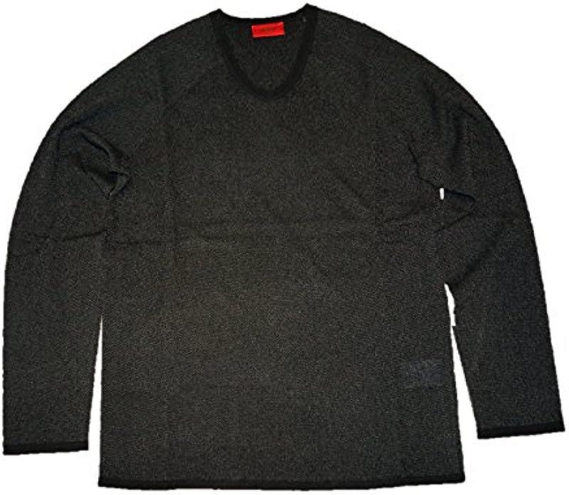 Hugo V dekoltu Pulli slack kolorze czarnym 001 - m czarny: Odzież