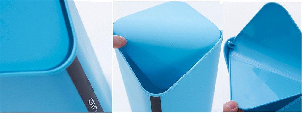 Chytaii Papelera de Escritorio Mini Papelera para Escritorio con Tapa Cubo de Almacenamiento Papelera Oficina Mesa Ba/ño Cocina Moda Simple