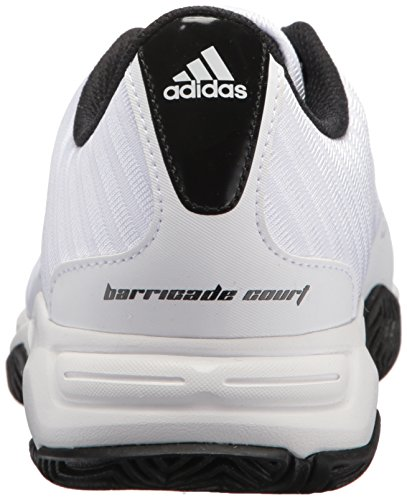 Scarpa Da Tennis Adidas Performance Mens Barricade Corte 3 Larga Bianca / Argento Opaco / Scarlatto