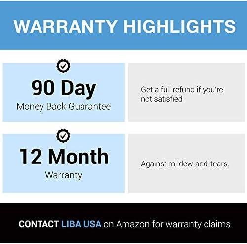 "LiBa PEVA 8G Bathroom Shower Curtain Liner, 72"" W x 72"" H, Clear, 8G Heavy Duty Waterproof Shower Curtain Liner"