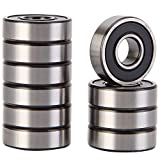 XiKe 10 Pack 6000-2RS Precision Bearings 10x26x8mm, Rotate Quiet High Speed and Durable, Double Seal and Pre-Lubricated, Deep Groove Ball Bearings.