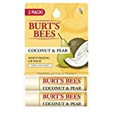 Burt's Bees 100% Natural Moisturizing Lip Balm, Coconut & Pear with...