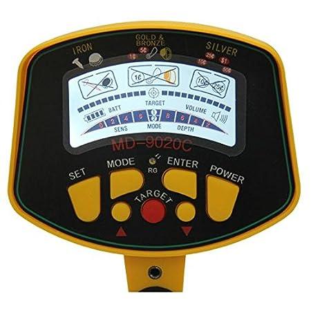 Express Panda® Detector de metales con pantalla LCD y acolchada Apoyabrazos (Treasure Hunter Modelo 2015-MD304): Amazon.es: Jardín