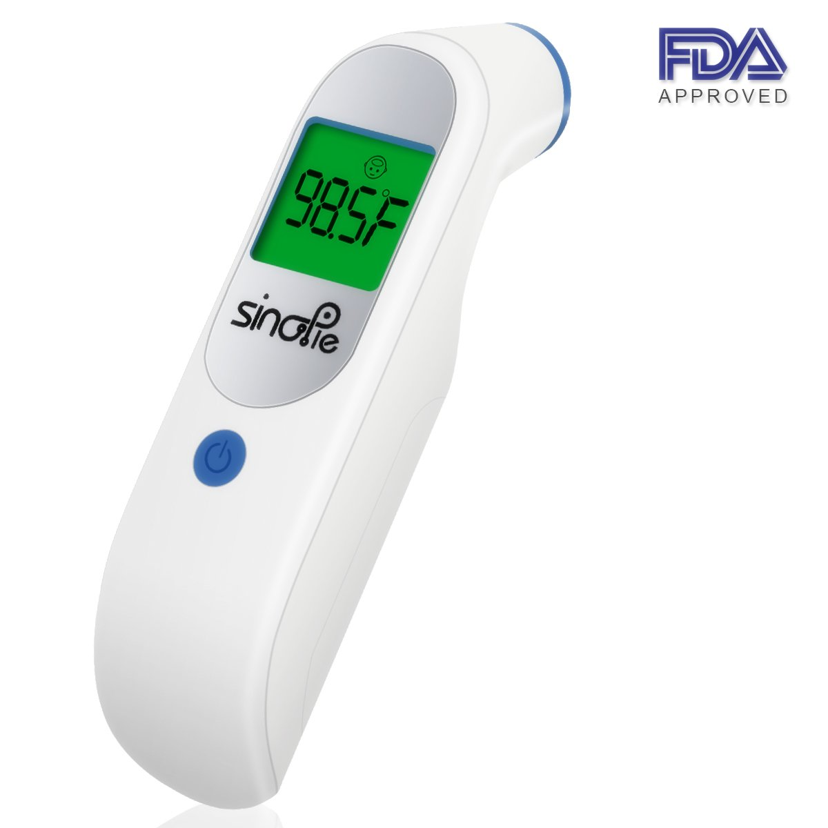 Digital Forehead Thermometer, Infrared Medical Thermometer with FDA Test and Clinical Accuracy, Non Contact Body Thermometer for Baby, Kids, Infant and Adults (White)