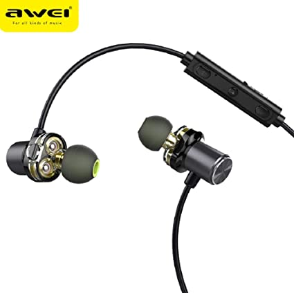 WSJ AWEI X650BL Wireless Sports Bluetooth Headset, Metal Magnetic, Stereo Sound Quality, no