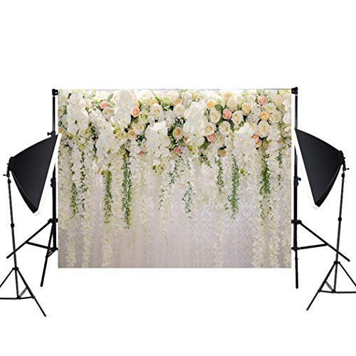 5x7ft Flower Backdrops for Wedding Photography Background Props Cloth for Holiday Birthday Party -
