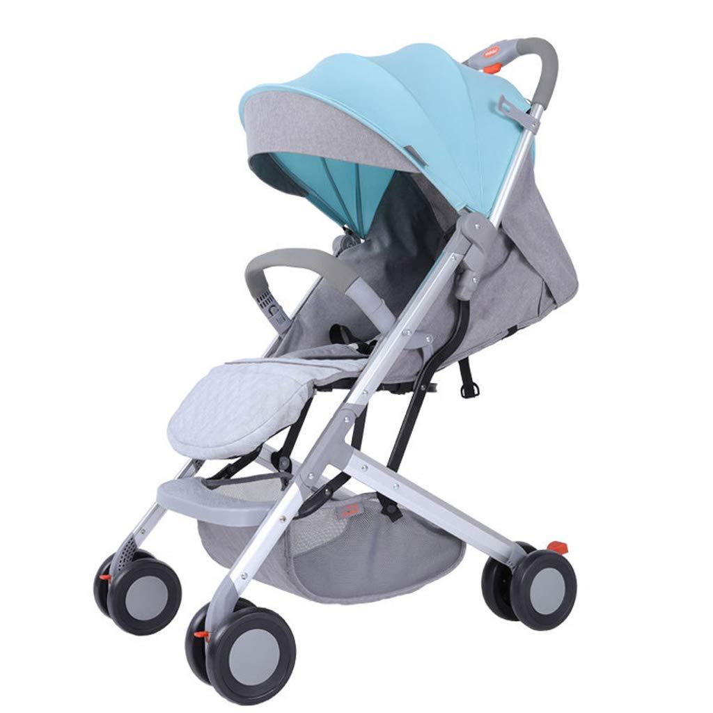軽量の赤ん坊のベビーカーの旅行システム折り畳み式のバギーベビーカーのアルミ合金、5.5 Kg - 色の混合  Blue+Gray B07PYLTTLD