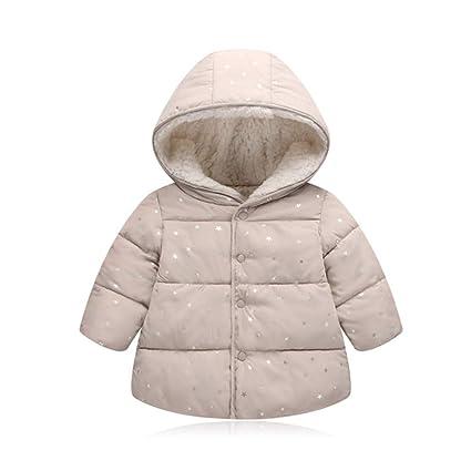 Chaqueta de abrigo para niños Niños bebés niños niñas de invierno cálido botón de la capa ...