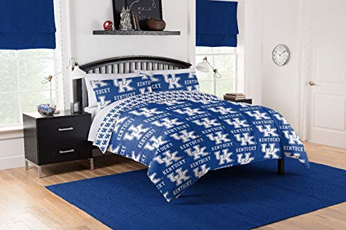 Wildcats Ncaa Bedding - Kentucky Wildcats Twin Comforter & Sheet Set, 4 Piece NCAA Bedding