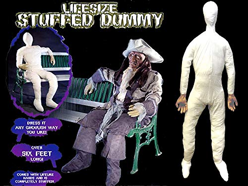 Life Size STUFFED POSABLE MANNEQUIN DISPLAY DUMMY Halloween Costume Prop Man-6ft]()