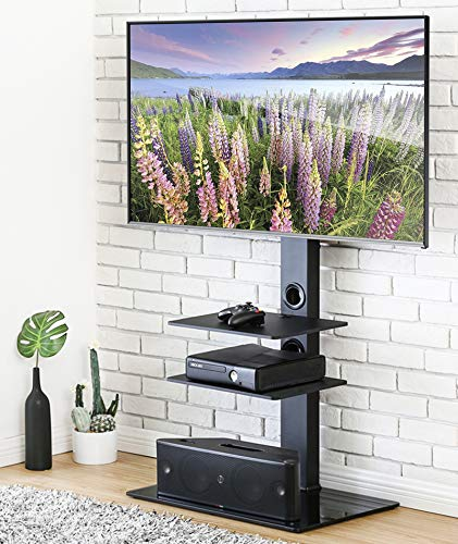 FITUEYES Universal TV Stand with Swivel Mount Height Adjusta