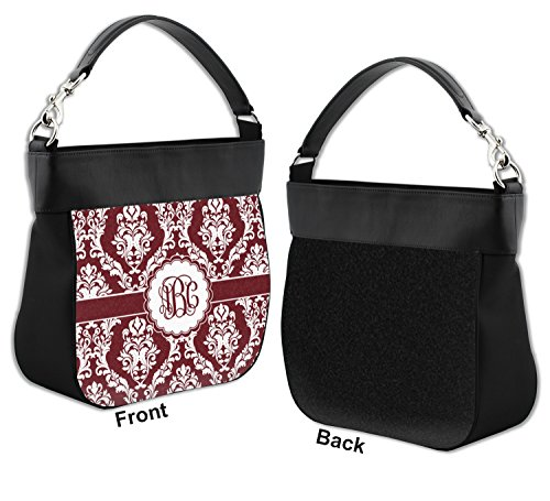 Trim Genuine w Hobo White amp; Personalized Front Leather Purse Maroon UcnROx0