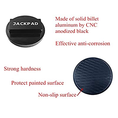 Jack Pad Adapter Anodized Black for BMW 135 335 535 E82 E88 E46 E90 E91 E92 E93 E38 E39 E60 E61 E63 E64 E65 E66 E70 E71 E89 X5 X6 X3 1M M3 M5 M6 F01 F02 F30 F10,Mini Cooper(4 pcs): Automotive