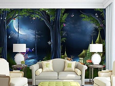 Lwcx Custom Wallpaper 3d Photo Fairy Tale Forest Moonlight