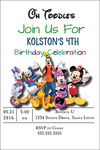 Customized - Mickey Mouse Birthday Party -