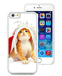 Personalized iPhone 6 Case,Christmas Cat White iPhone 6 4.7 Inch TPU Case 48