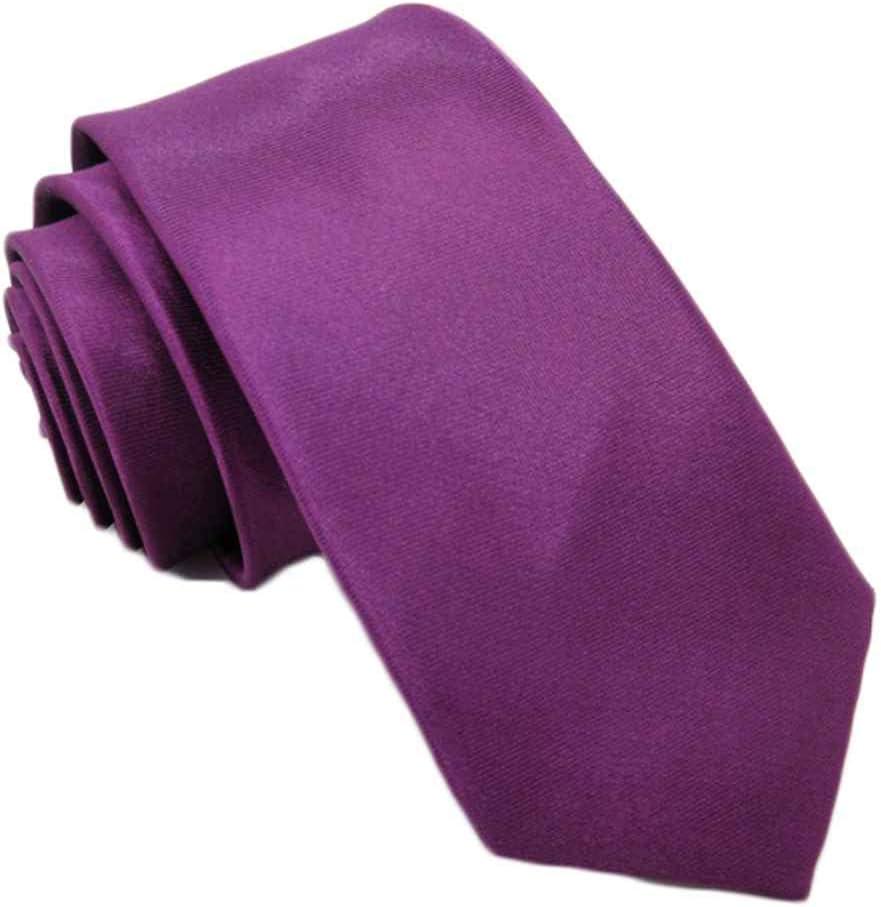 Qinghengyong Los Colores Multi Masculino Suave poli/éster Corbata de Seda los Hombres c/ómodo celebraci/ón de Bodas Negocios Men Ties patr/ón s/ólido Corbatas