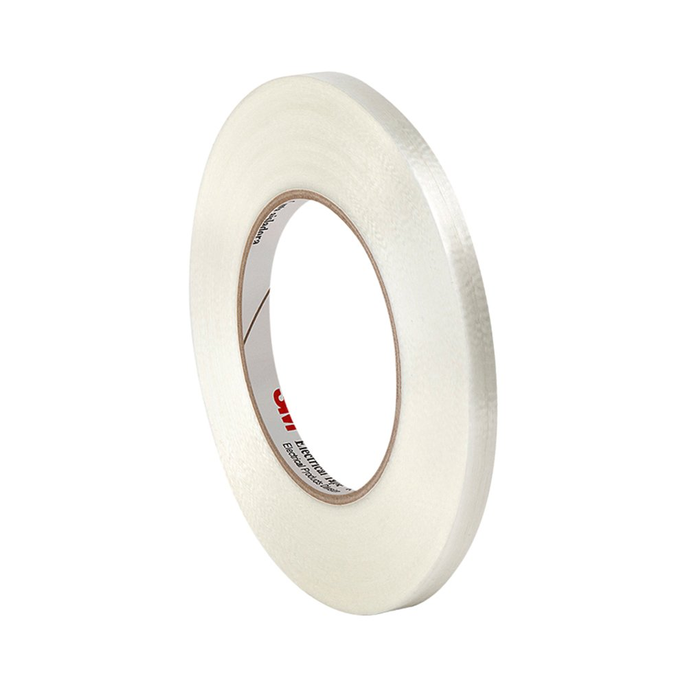 TapeCase 1139 0.47' x 60yd Clear Polyester Film/Glass Filament 3M Reinforced Electrical Tape 1139, 311 degrees F Performance Temperature, 0.0065' Thickness, 60 yd Length, 0.47' Width 0.0065 Thickness 0.47 Width 3M 1139 0.47 x 60yd