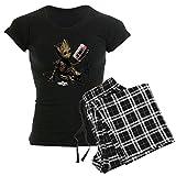CafePress GOTG Groot Cassette Womens Novelty Cotton Pajama Set, Comfortable PJ Sleepwear