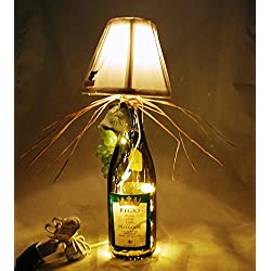 Italian (Tuscan) Style Table Lamp Crafted From a Recycled Regio 2009 Lodi Marshanne Wine Bottle. Shipping is included.