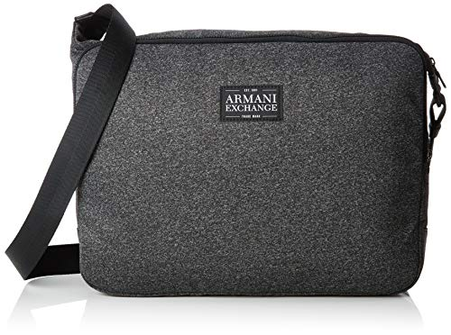 Armani Exchange Men's Zip Top Messenger Bag, dark grey/black, UNI