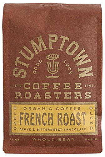 Stumptown Coffee Roasters French Roast Whole Bean Organic Coffee, 12 Ounce Bag, Flavor Notes of Clove and Bittersweet Chocolate