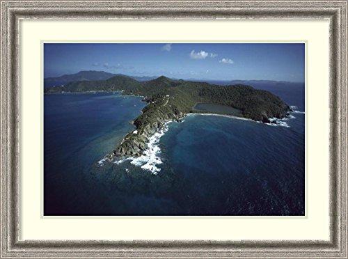 Framed Art Print 'Privateer Point, Virgin Islands National Park, St John Island, US Virgin Islands' by Gerry Ellis - John Ellis Water