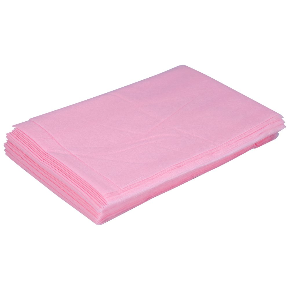 Massage Beauty Cover Bed Sheet Non-Woven Disposable Waterproof Table 10 Pcs 180*80cm (White) Brino