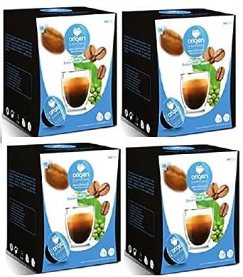 Cápsulas Compatibles Dolce Gusto®* Origen Sensations Descafeinado 64 bebidas: Amazon.es: Alimentación y bebidas