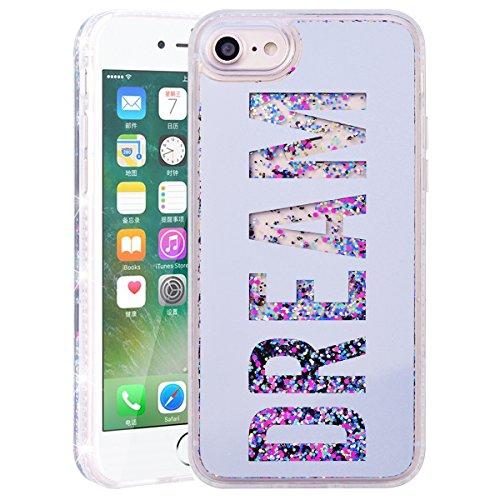 Coque iPhone 7 / iPhone 8, HB-Int Housse de Protection iPhone 8 Plastique Hard Case Etui Antichoc Protecteur Ultra Mince Cute Cas Couverture pour Apple iPhone 7 / iPhone 8 avec Motif Dream Argent