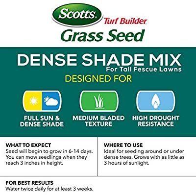 Scotts Turf Builder Grass Seed - Dense Shade Mix for Tall Fescue Lawns