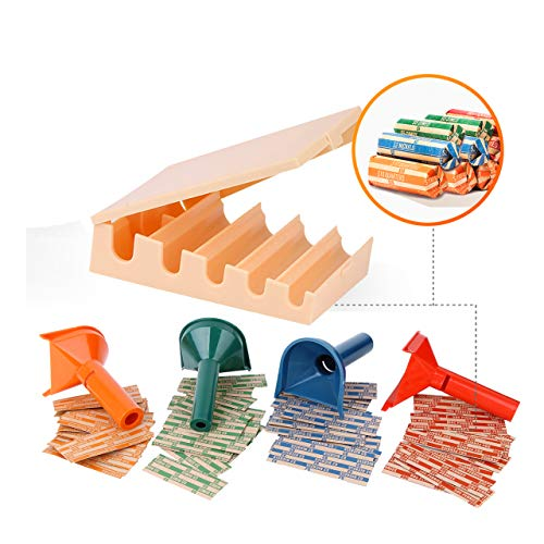 Coin Counters Tray & 4 Color-Coded Coin Sorters Tubes Bundled with 100-Count Assorted Coin ()