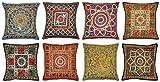 Home Decorative Handmade Cotton Mirror Cushion Covers 16 X 16 Inches ( 20 Pcs )