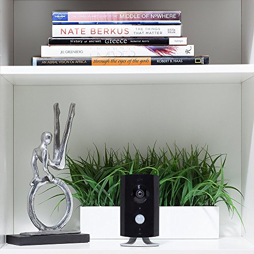 Piper nv Smart Home Security System with Night Vision, 180-degree Video Camera, Black