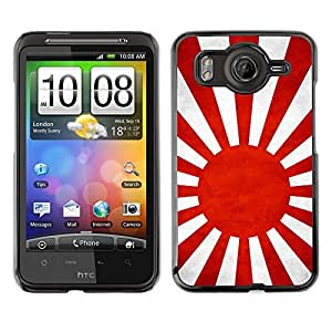 Shell-Star ( National Flag Series-Japanese Naval Ensign ) Snap On Hard Protective Case For HTC Desire HD / Inspire 4G