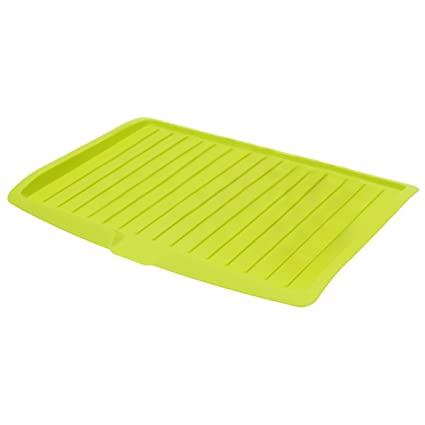 LUQUAN Dish Draining Board - Plastic Dish Drainer Drip Tray Plate Cutlery Rack Kitchen Sink Rack